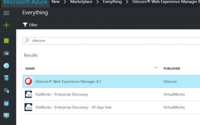 Sitecore PaaS at Azure Marketplace – First Look